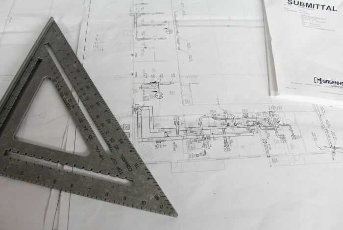 drawings for a building project