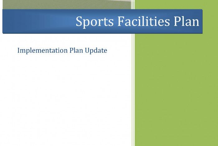 Sports Facilities Plan Implementation Plan Update Cover