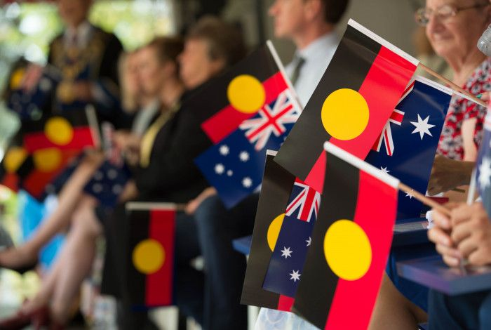 Australian and Aboriginal Flags