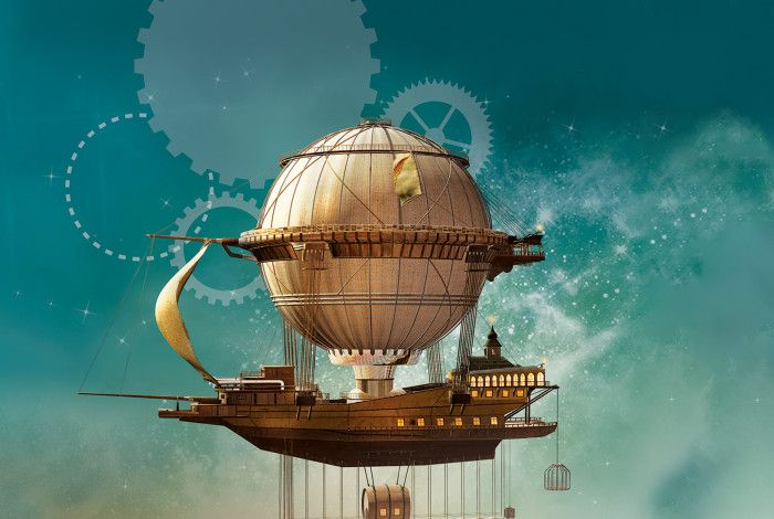 Image of a STEAM punk hot air balloon