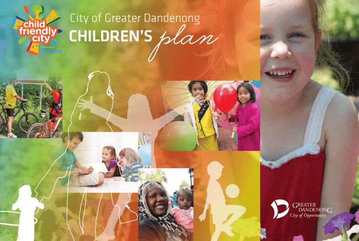 Greater Dandenong Children's Plan 2015-19 Cover