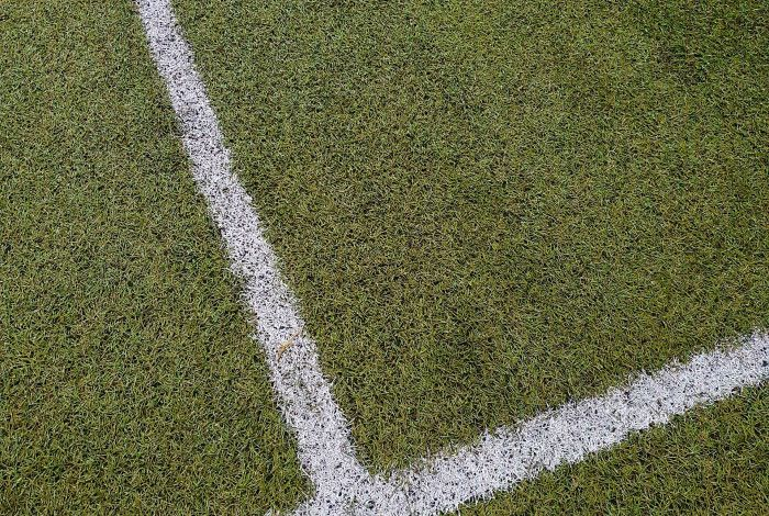 Sports field with line marking