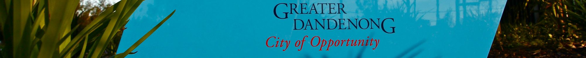 City of Greater Dandenong Logo on blue panel