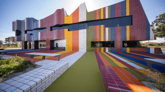 Springvale Community Hub Complete Coloured Facade